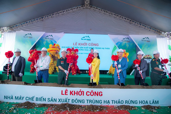 Khởi công Nhà máy đông trùng hạ thảo Hoa Lâm tại Long An - ảnh 3