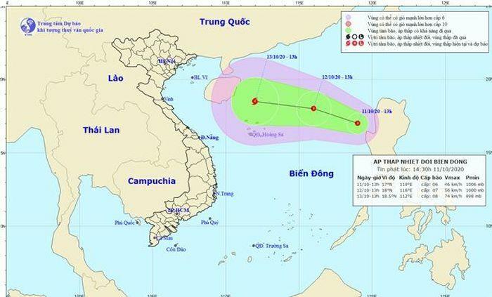 Chủ động ứng phó với vùng áp thấp trên Biển Đông và mưa lớn diện rộng - ảnh 1