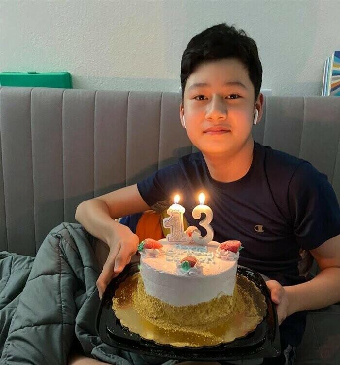Con trai Jennifer Phạm - Bảo Nam phổng phao ở tuổi 14, ai cũng khen quá đẹp trai - ảnh 4
