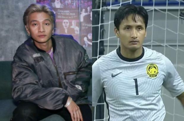 Dân mạng ''tròn mắt'' vì thủ môn Malaysia giống y đúc ca sĩ hot của Rap Việt - ảnh 1