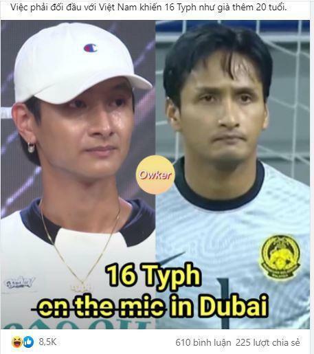 Dân mạng ''tròn mắt'' vì thủ môn Malaysia giống y đúc ca sĩ hot của Rap Việt - ảnh 2
