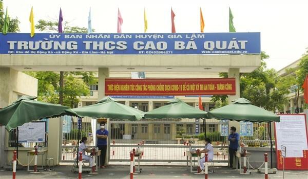 Huyện Gia Lâm: An toàn, nghiêm túc trong ngày thi đầu tiên vào lớp 10 THPT - ảnh 1