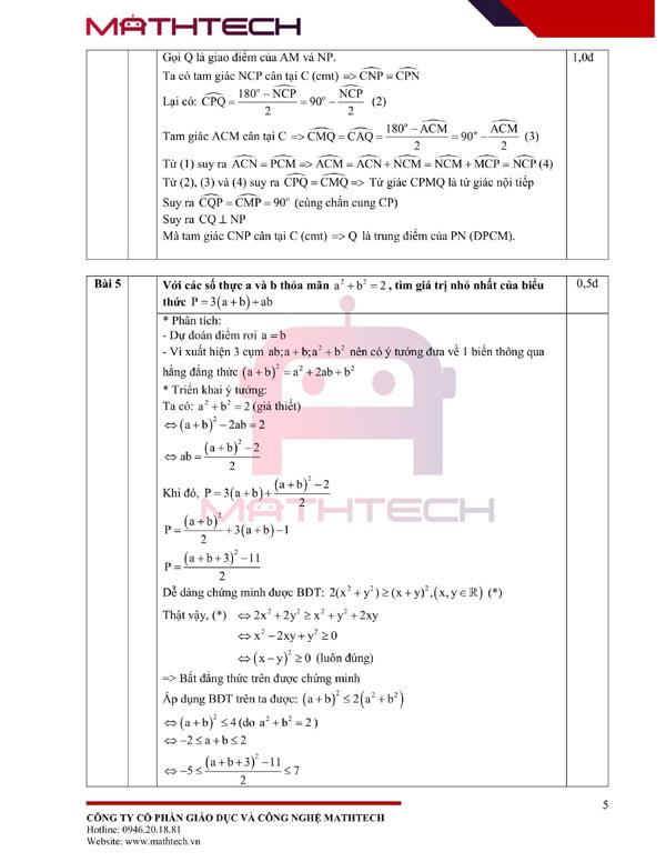 Lời giải đề thi lớp 10 môn Toán của Hà Nội 2021 - ảnh 6