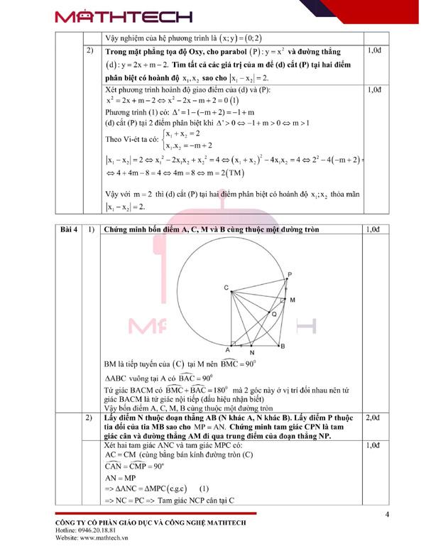 Lời giải đề thi lớp 10 môn Toán của Hà Nội 2021 - ảnh 5