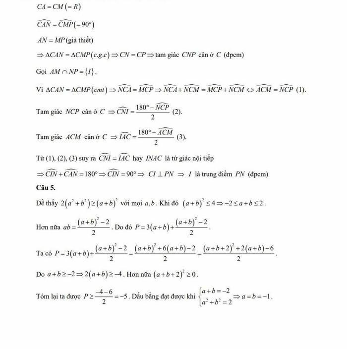 Gợi ý giải đề môn Toán kỳ thi lớp 10 của Hà Nội - ảnh 5