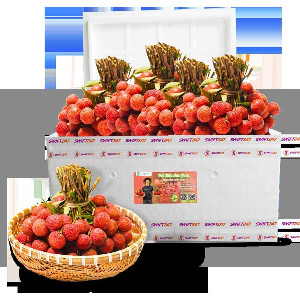 Chung tay hỗ trợ nông dân Bắc Giang, Vietjet & Swift247 vận chuyển vải thiều tới nhiều thị trường trong nước và quốc tế - ảnh 1