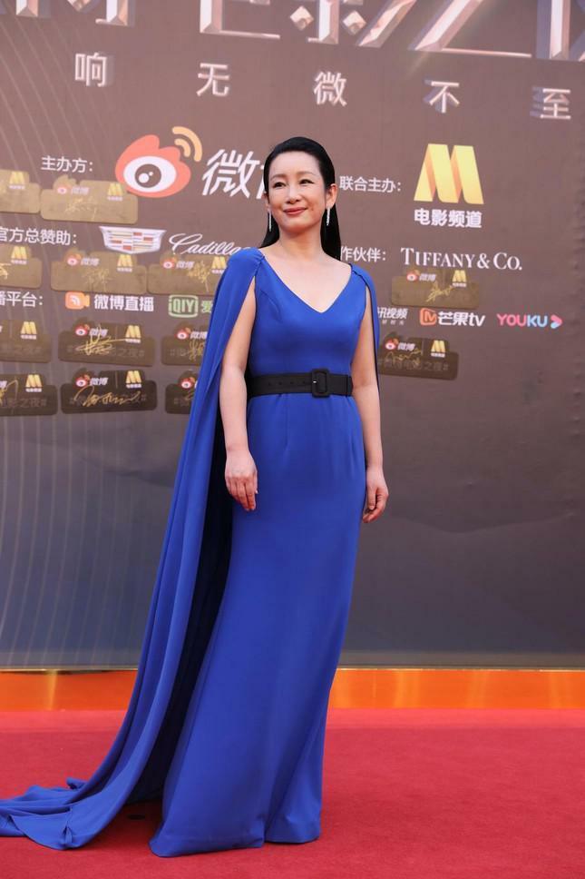 Dàn nàng thơ của Trương Nghệ Mưu 'đổ bộ' thảm đỏ Đêm Điện ảnh Weibo - ảnh 12