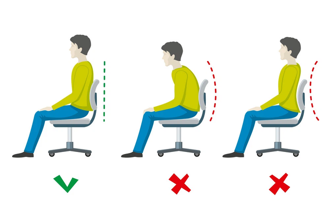 Tư thế ngồi đúng khi làm việc với máy tính là gì? - ảnh 2
