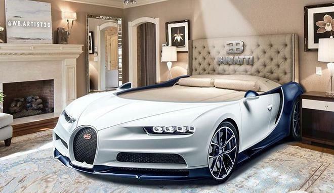 Bugatti Chiron phiên bản giường ngủ trông sẽ như thế này này - ảnh 1