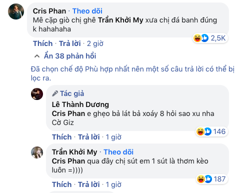 """Cris Phan """"cà khịa"""" Khởi My chiếm luôn spotlight bài đăng Ngô Kiến Huy, pha """"phản dame"""" của khổ chủ gây chú ý - ảnh 2"""