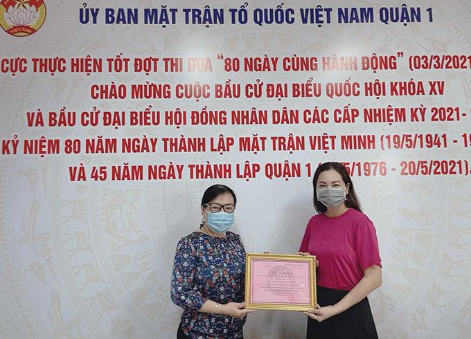 Ngọc Thúy ủng hộ Quỹ vaccine 100 triệu đồng - ảnh 1
