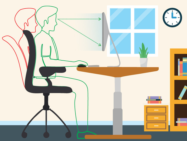Tư thế ngồi đúng khi làm việc với máy tính là gì? - ảnh 4