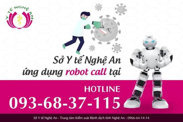 Nghệ An triển khai hệ thống Robot Call truy vết COVID-19 - ảnh 2