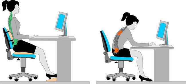 Tư thế ngồi đúng khi làm việc với máy tính là gì? - ảnh 3