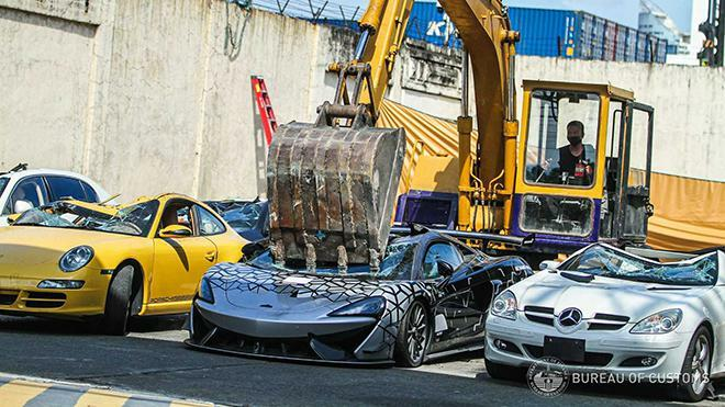 Đau lòng nhìn McLaren 620R mới tinh bị nghiền nát vì nhập lậu - ảnh 3