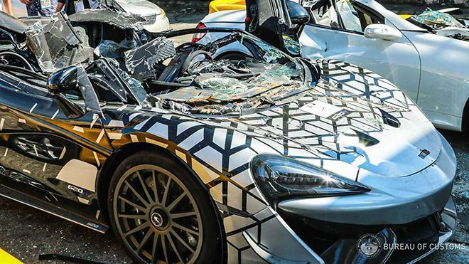 Đau lòng nhìn McLaren 620R mới tinh bị nghiền nát vì nhập lậu - ảnh 4