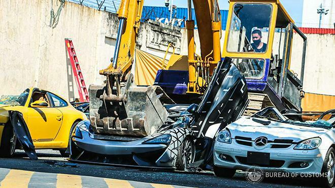 Đau lòng nhìn McLaren 620R mới tinh bị nghiền nát vì nhập lậu - ảnh 7