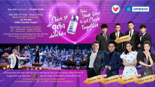 Thu Minh, Tùng Dương và dàn nghệ sĩ sẽ cùng góp mặt trong đêm hòa nhạc trực tuyến kết nối 5 châu ủng hộ Quỹ vaccine Covid-19 - ảnh 1