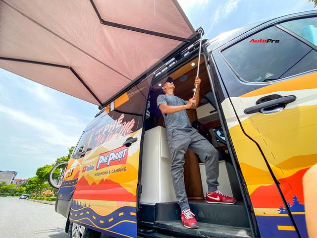 Thợ Việt độ Hyundai Solati thành nhà di động hết hơn 1,5 tỷ đồng: Có TV, bếp và công trình phụ, dùng điện mặt trời - ảnh 6