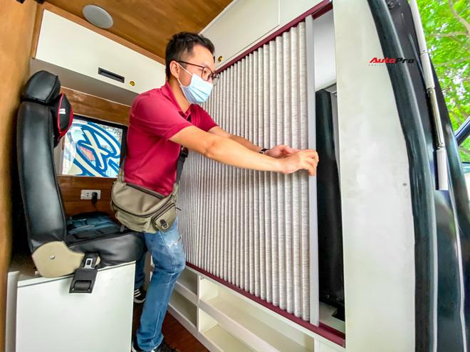 Thợ Việt độ Hyundai Solati thành nhà di động hết hơn 1,5 tỷ đồng: Có TV, bếp và công trình phụ, dùng điện mặt trời - ảnh 10