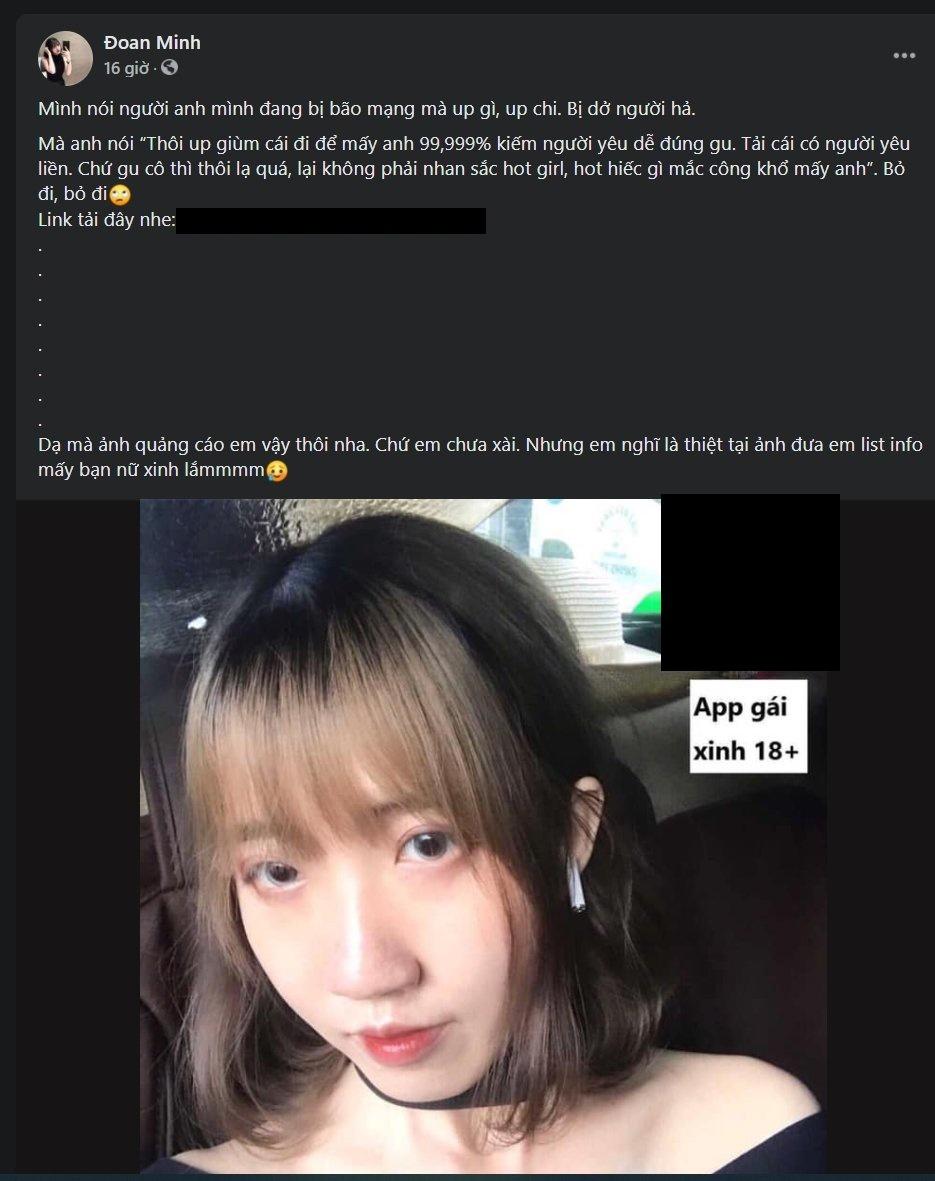 Cô gái ''12 mối tình'' trả lời về việc quảng cáo app khiêu dâm, cờ bạc - ảnh 2