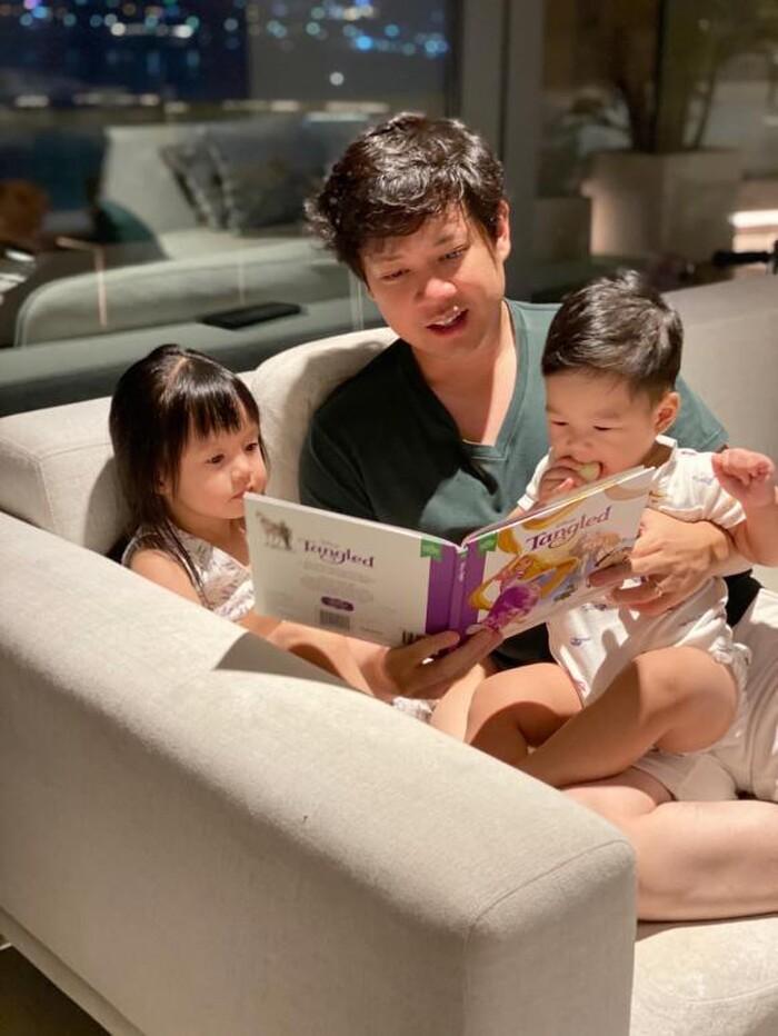 Hoa hậu Đặng Thu Thảo khoe ảnh con gái giúp mẹ tưới cây, ra dáng chị cả trong gia đình - ảnh 5
