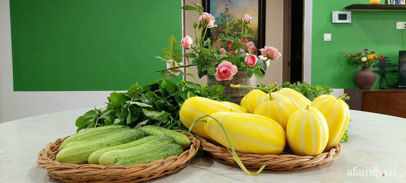 Sân thượng 50m² không khác gì trang trại với đủ loại rau quả sạch theo mùa của mẹ đảm ở Hà Nội - ảnh 20
