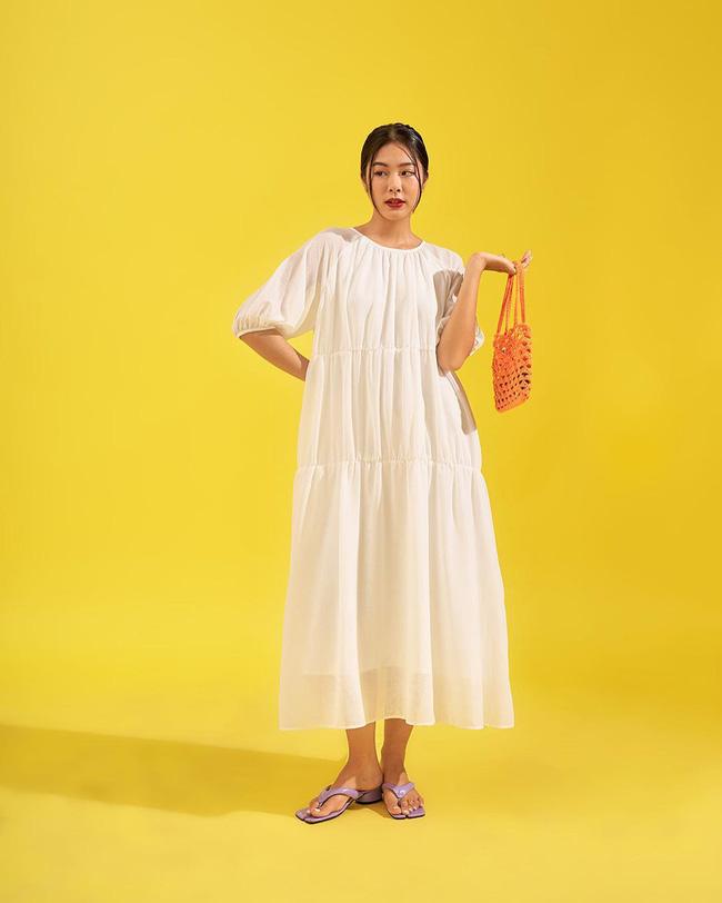 """Hari Won diện loạt mẫu váy giấu bụng triệt để, nhưng trông hơi """"dừ"""" và lỗi mốt - ảnh 11"""