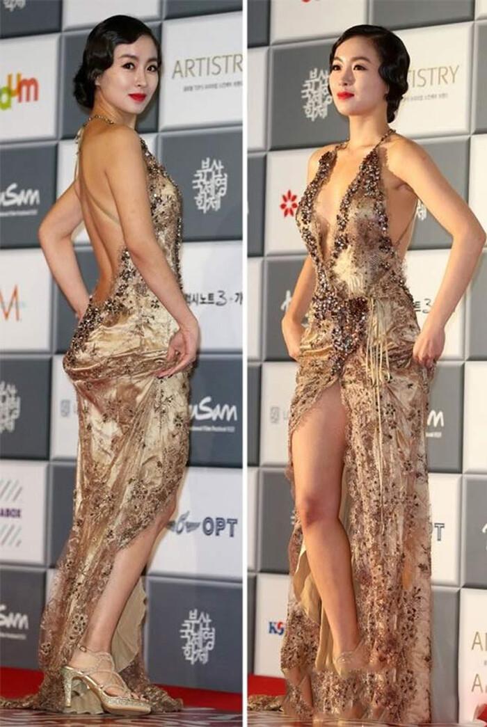 Những lần mặc như không mặc của sao Hàn khiến fan ngượng chín mặt - ảnh 4
