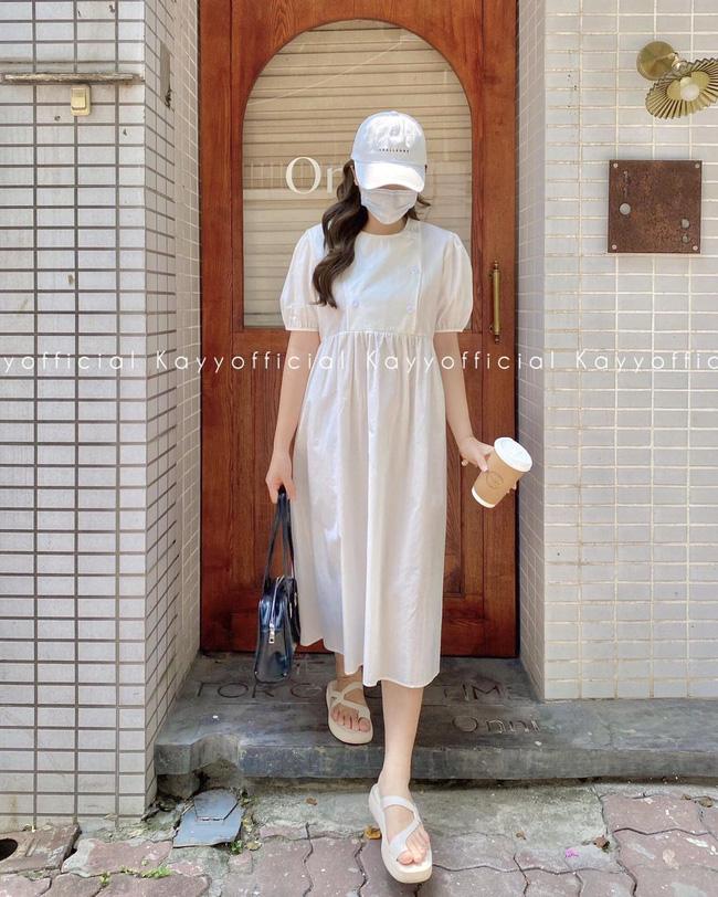 """Hari Won diện loạt mẫu váy giấu bụng triệt để, nhưng trông hơi """"dừ"""" và lỗi mốt - ảnh 7"""