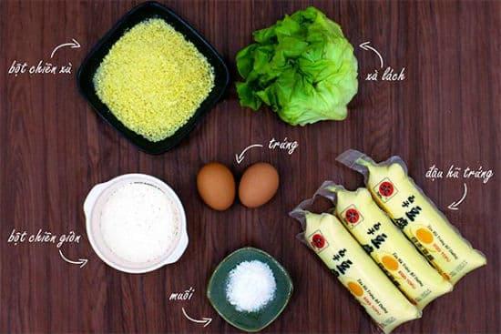 Hướng dẫn cách làm đậu hũ trứng chiên xù thơm ngon đơn giản tại nhà - ảnh 2