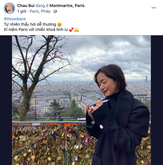 Châu Bùi bỗng nhớ kỷ niệm ở Paris và ổ khoá tình yêu, dân tình gọi tên Decao giữa ồn ào ''bồ cũ rapper số 1 lộ ảnh nóng'' - ảnh 2