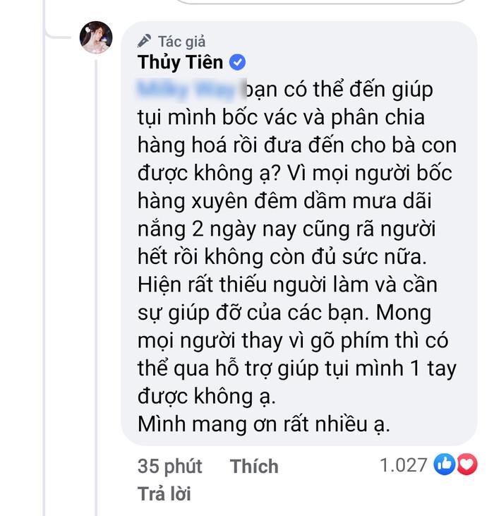 Thủy Tiên bức xúc đáp trả anti-fan ''bớt gõ phím'', cầu xin đi bốc hàng cứu trợ sau khi bị tố ''nhận vơ'' - ảnh 2