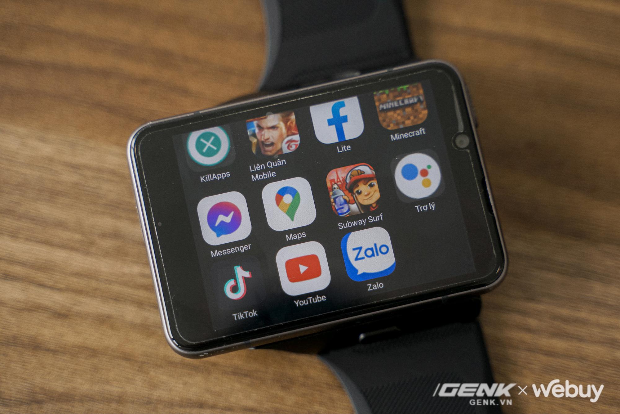 """Trên tay Lokmat Appllp Max: Smartwatch """"siêu to khổng lồ"""" chạy Android, có 4G, cấu hình """"ngon"""", đánh game phà phà - ảnh 11"""
