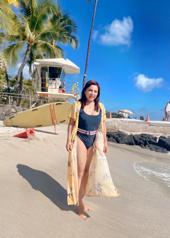 Lần đầu tiên diện bikini, vợ cũ Hoàng Anh ''lấy hết can đảm'' để đăng ảnh - ảnh 4