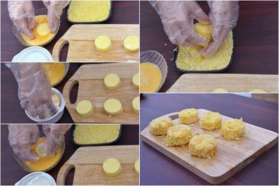 Hướng dẫn cách làm đậu hũ trứng chiên xù thơm ngon đơn giản tại nhà - ảnh 4