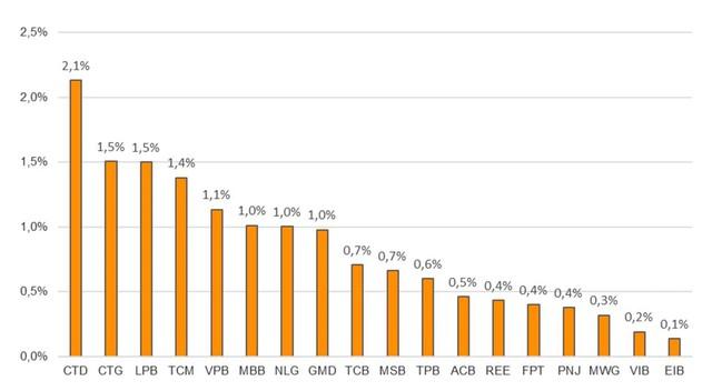 VNDIRECT dự báo HOSE sẽ loại CTD và TCM khỏi chỉ số VNDiamond - ảnh 3