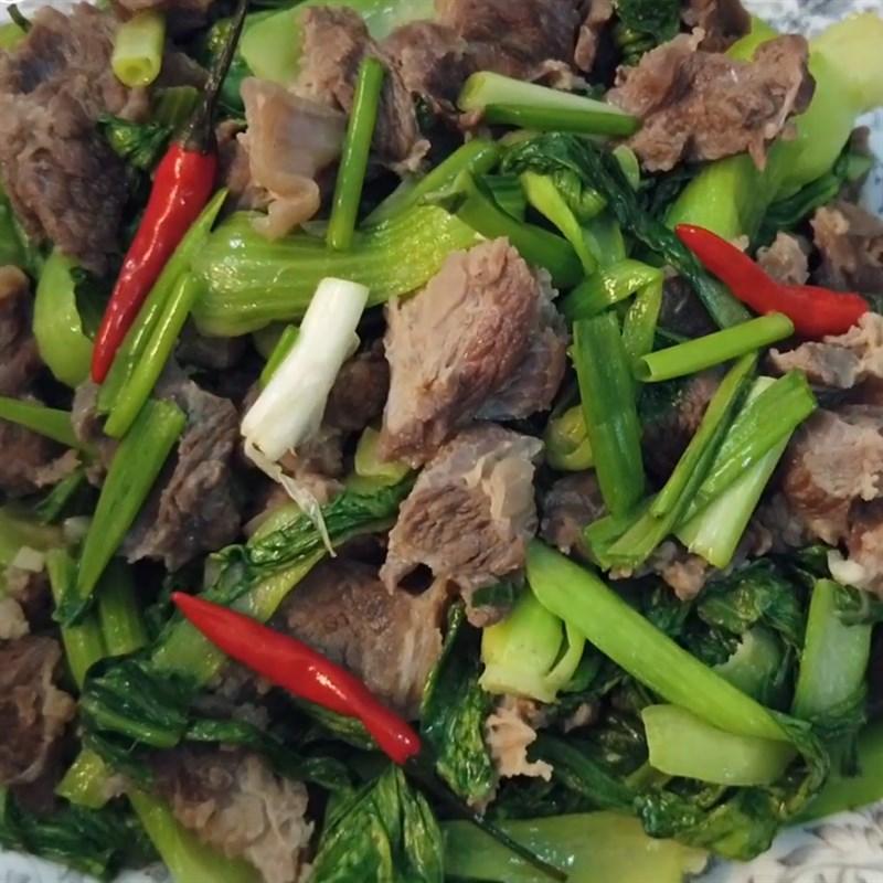 Cách làm cải thìa xào thịt bò thơm ngon lạ miệng hấp dẫn ăn hoài không ngán - ảnh 14