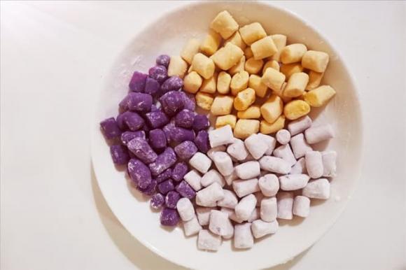 Bánh khoai môn tự làm rất đơn giản, dẻo dẻo, không dính, ăn rất ngon! Có thể ăn được nửa năm sau khi làm - ảnh 4