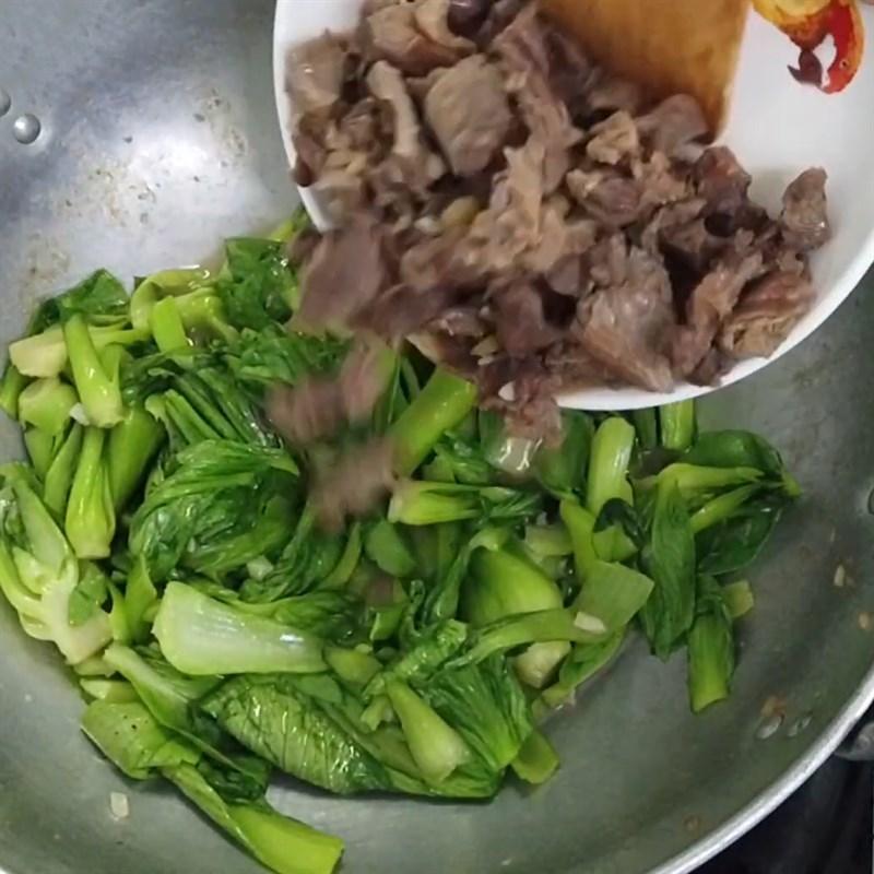 Cách làm cải thìa xào thịt bò thơm ngon lạ miệng hấp dẫn ăn hoài không ngán - ảnh 12