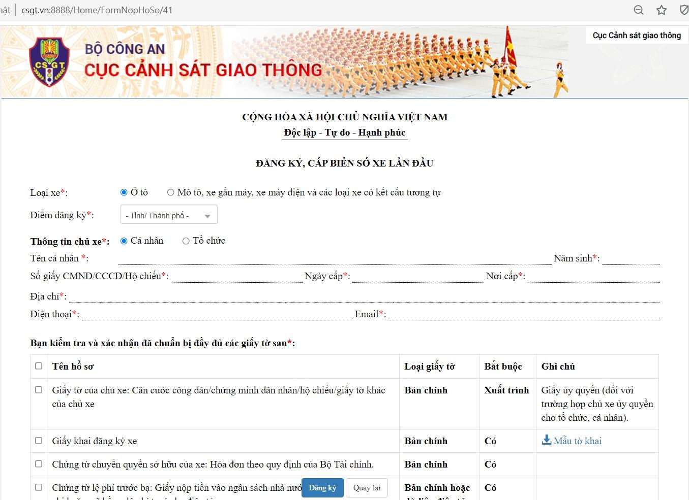Hướng dẫn đăng ký xe online - ảnh 6
