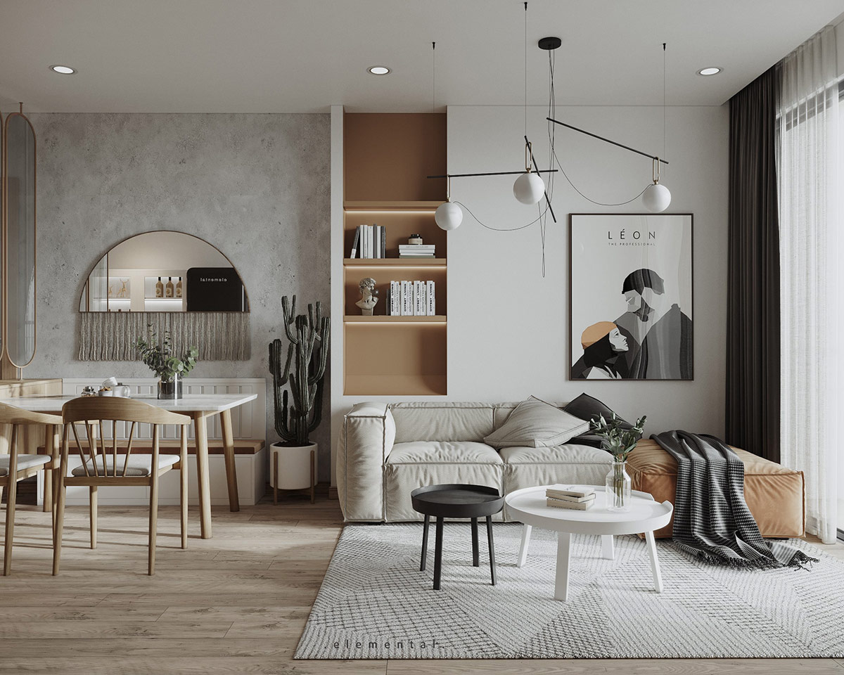 Tư vấn thiết kế căn hộ 69m² với phong cách tối giản trong khoảng chi phí 170 triệu đồng - ảnh 2