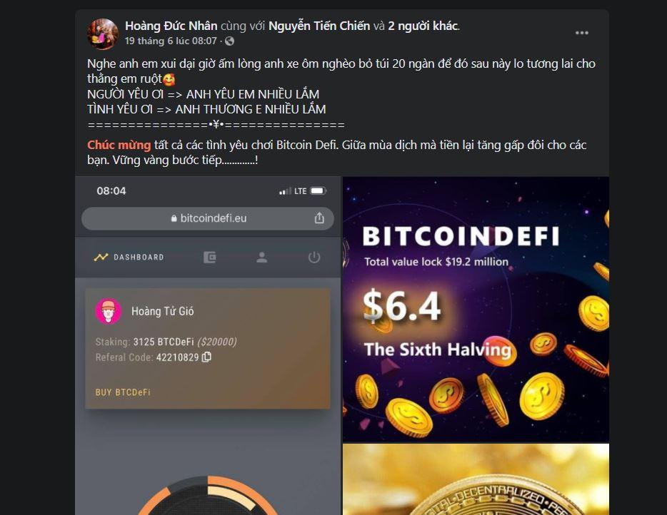 Thủ lĩnh đa cấp BitcoinDeFi mất liên lạc - ảnh 2