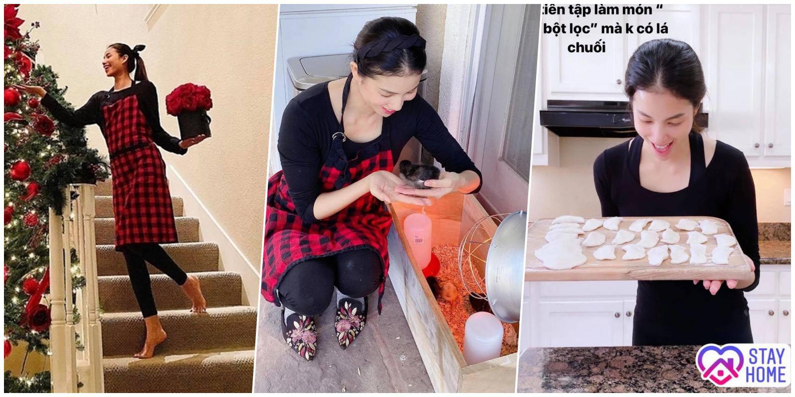 Khi Hoa hậu làm mẹ bỉm: Cất hết váy áo lộng lẫy, ở nhà mặc xoàng xĩnh nhận khó ra - ảnh 3
