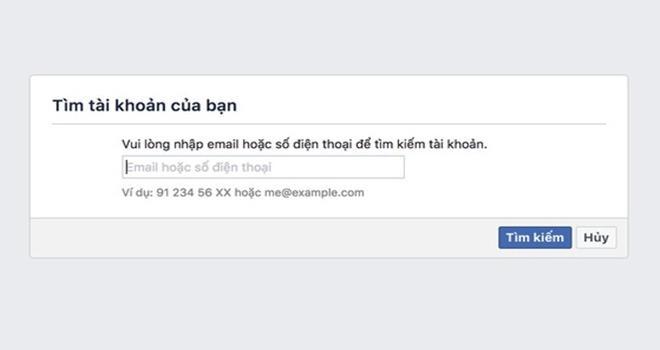 Cách lấy lại mật khẩu Facebook dễ dàng - ảnh 1