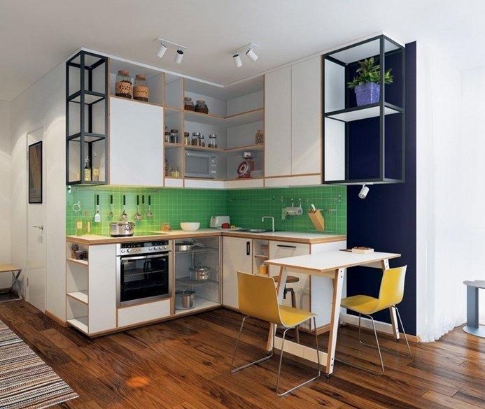 Mẫu nhà bếp nhỏ đẹp, cực tiện nghi cho chung cư gây sốt hiện nay - ảnh 9