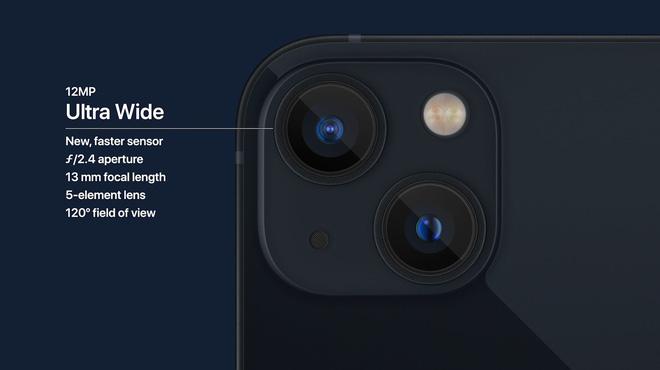 iPhone 13 và iPhone 13 mini chính thức: ''Tai thỏ'' gọn hơn, camera có chống rung cảm biến, Apple A15, giá từ 699 USD - ảnh 8