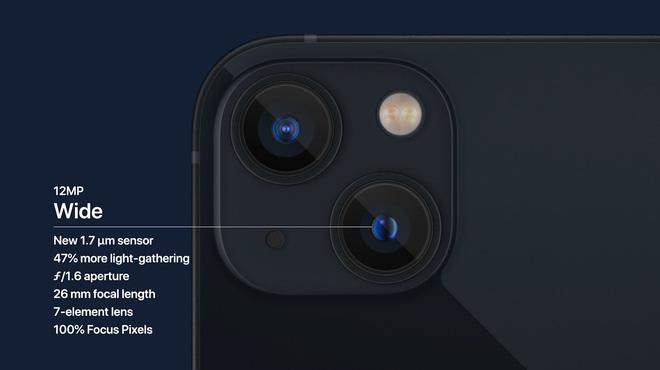 iPhone 13 và iPhone 13 mini chính thức: ''Tai thỏ'' gọn hơn, camera có chống rung cảm biến, Apple A15, giá từ 699 USD - ảnh 7
