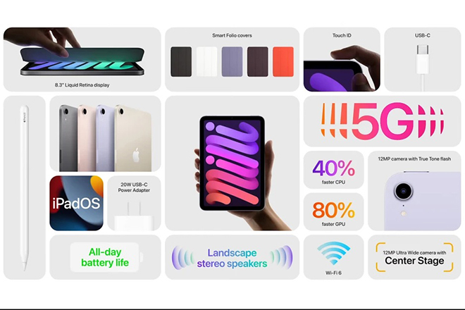 iPad Mini 6 chính thức được công bố với thiết kế tuyệt vời, kết nối 5G - ảnh 1