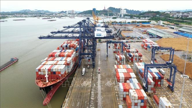 Tàu container của hàng tàu biển lớn nhất thế giới cập cảng Cái Lân - ảnh 1